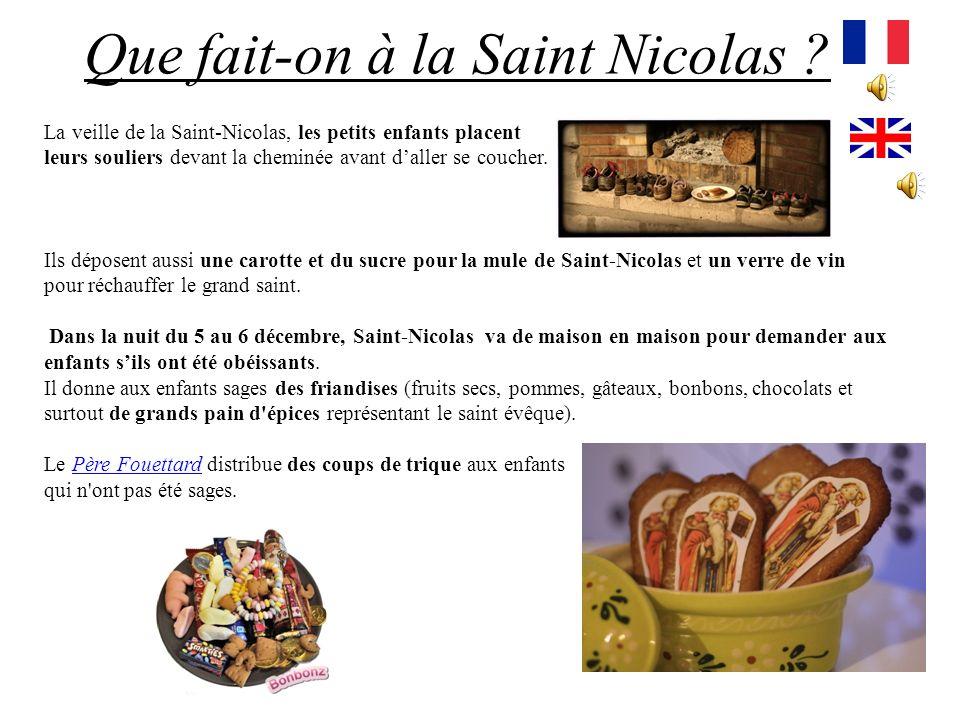 Que fait-on à la Saint Nicolas