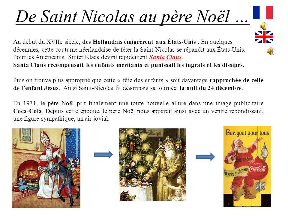 De Saint Nicolas au père Noël …
