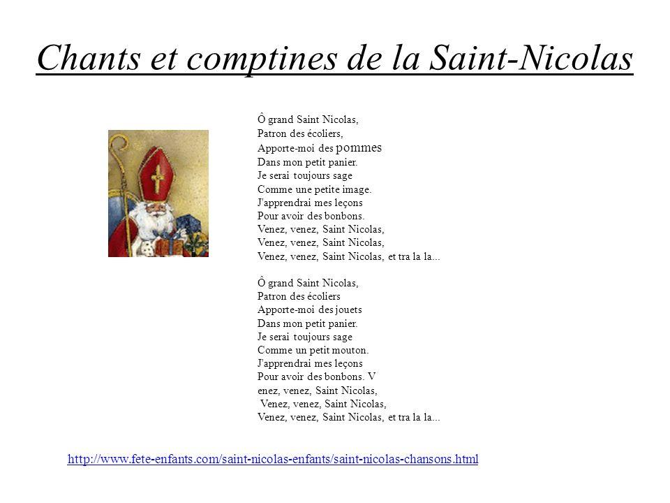 Chants et comptines de la Saint-Nicolas