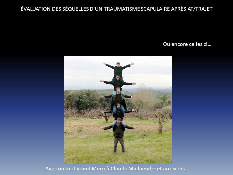 ÉVALUATION DES SÉQUELLES D'UN TRAUMATISME SCAPULAIRE APRÈS AT/TRAJET