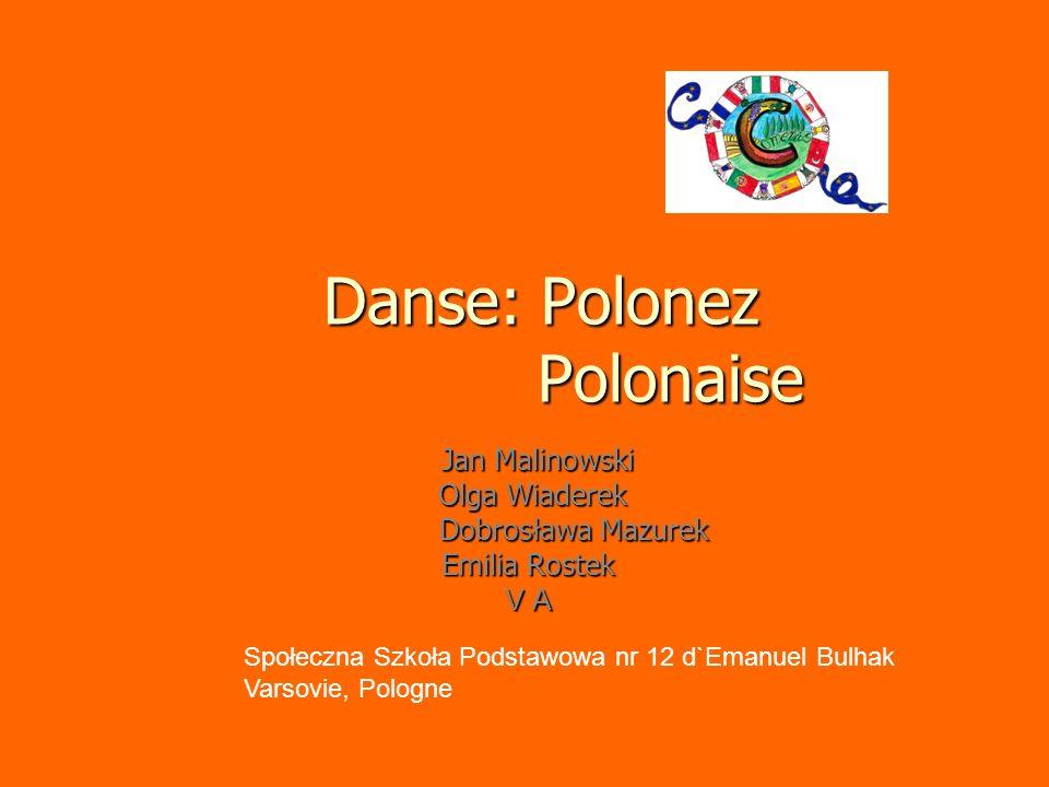 Danse: Polonez Polonaise