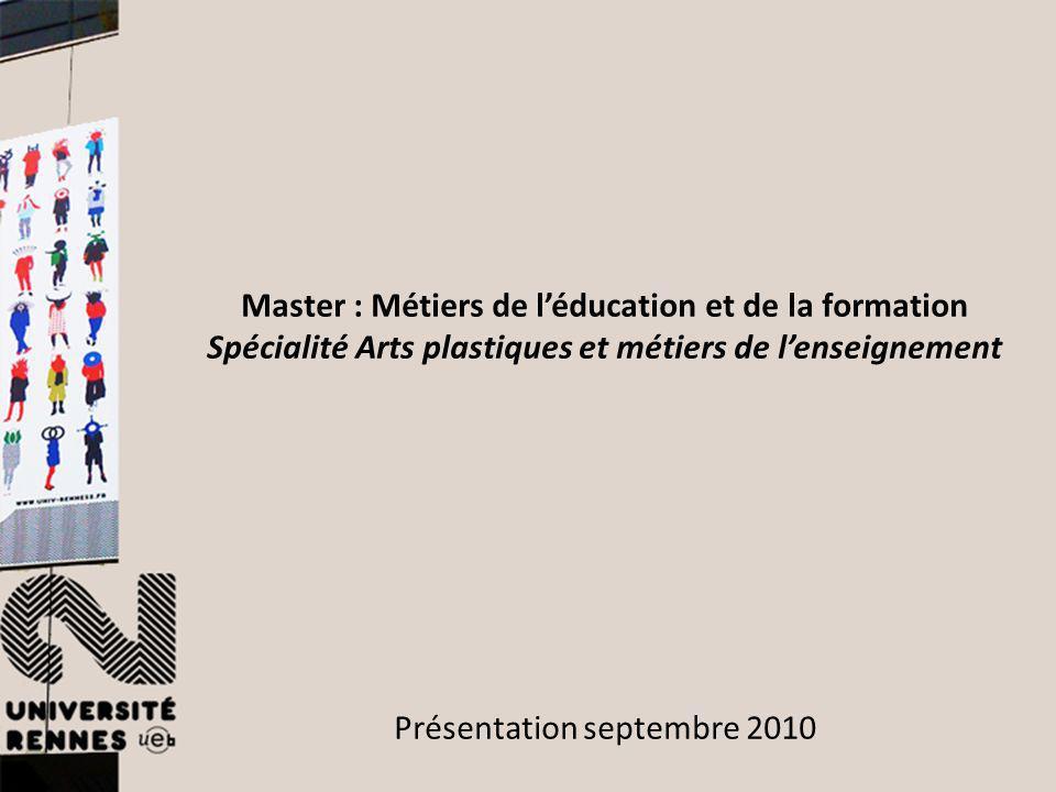 Master : Métiers de l'éducation et de la formation