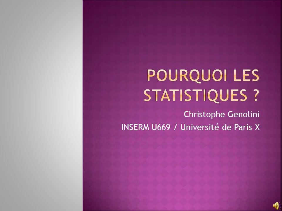 Pourquoi les statistiques