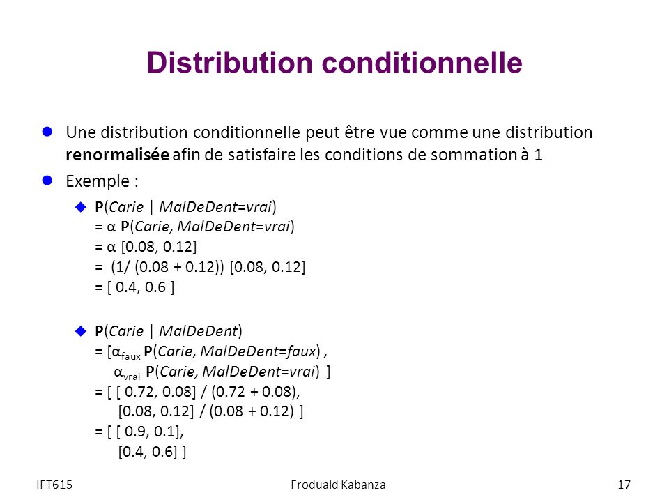 Distribution conditionnelle