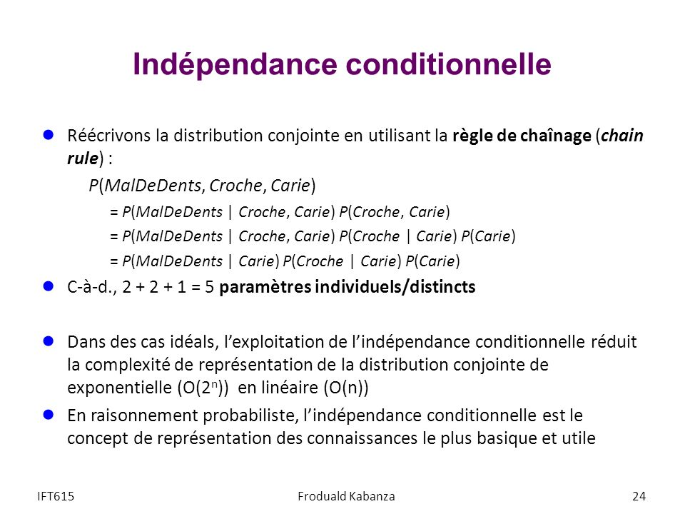 Indépendance conditionnelle