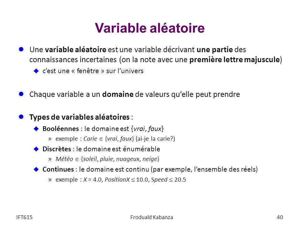 Variable aléatoire