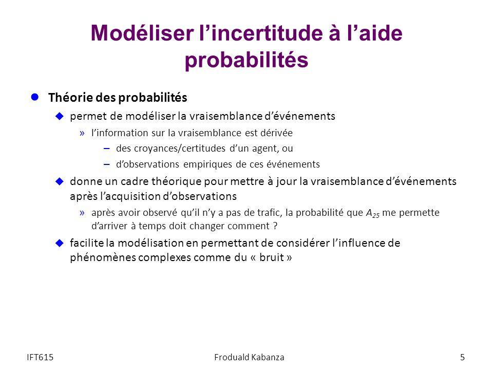 Modéliser l'incertitude à l'aide probabilités