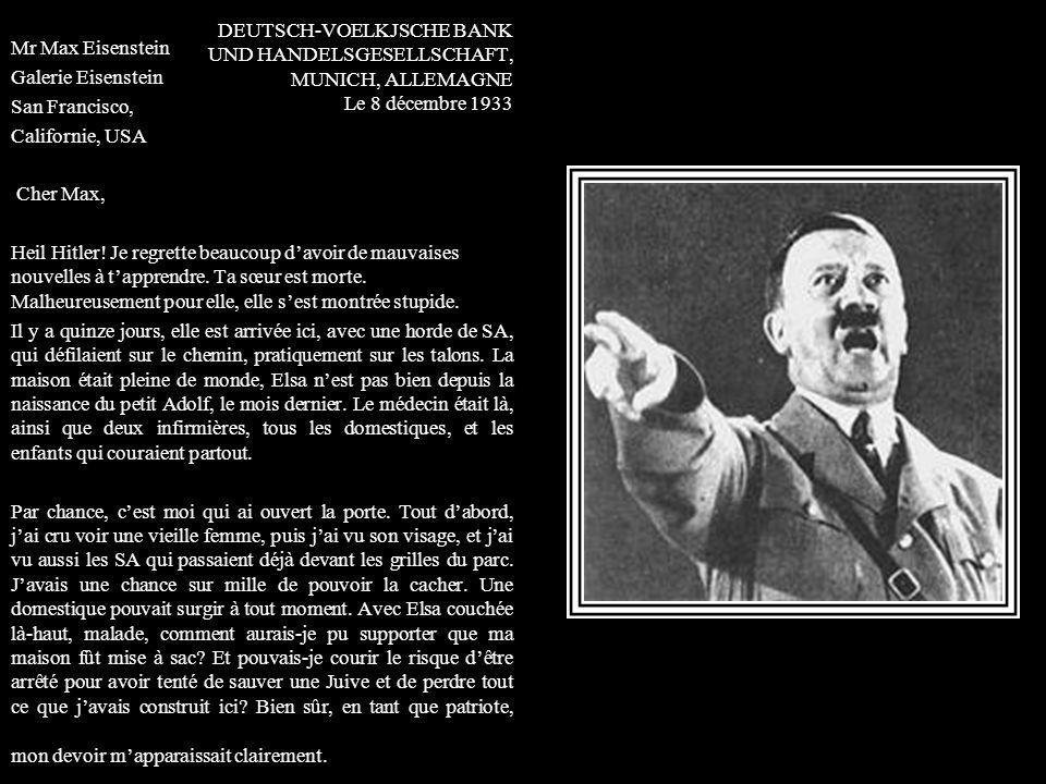 DEUTSCH-VOELKJSCHE BANK UND HANDELSGESELLSCHAFT, MUNICH, ALLEMAGNE Le 8 décembre 1933