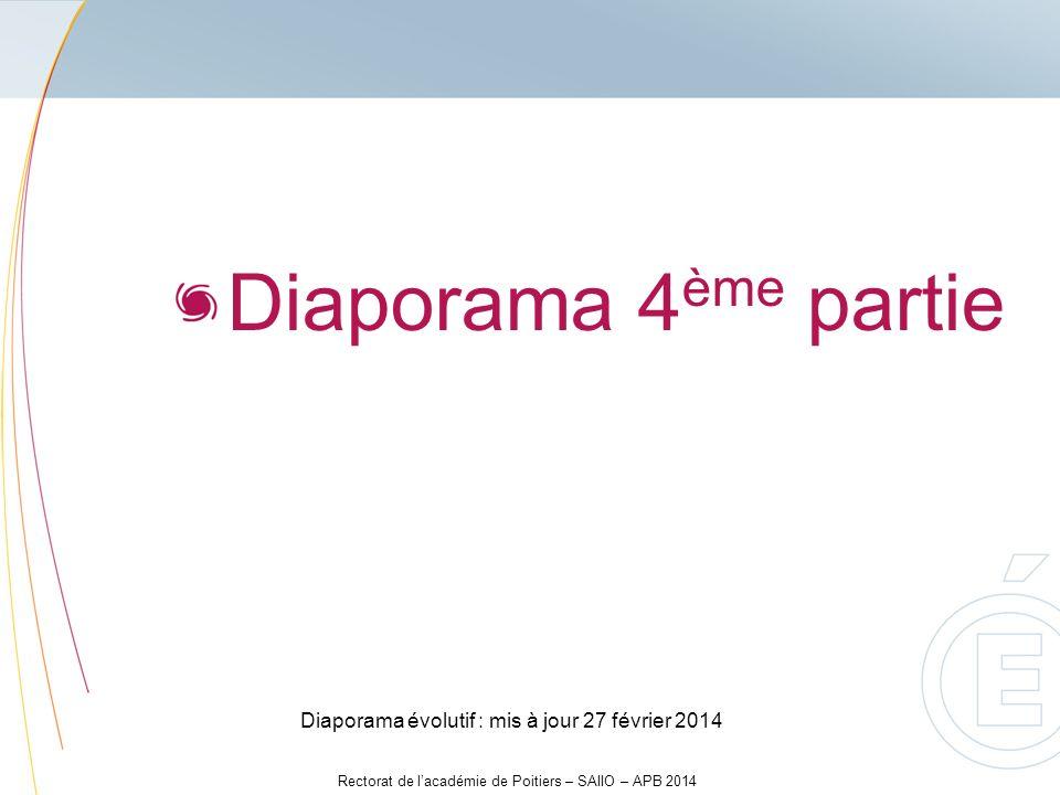 Diaporama 4ème partie Diaporama évolutif : mis à jour 27 février 2014