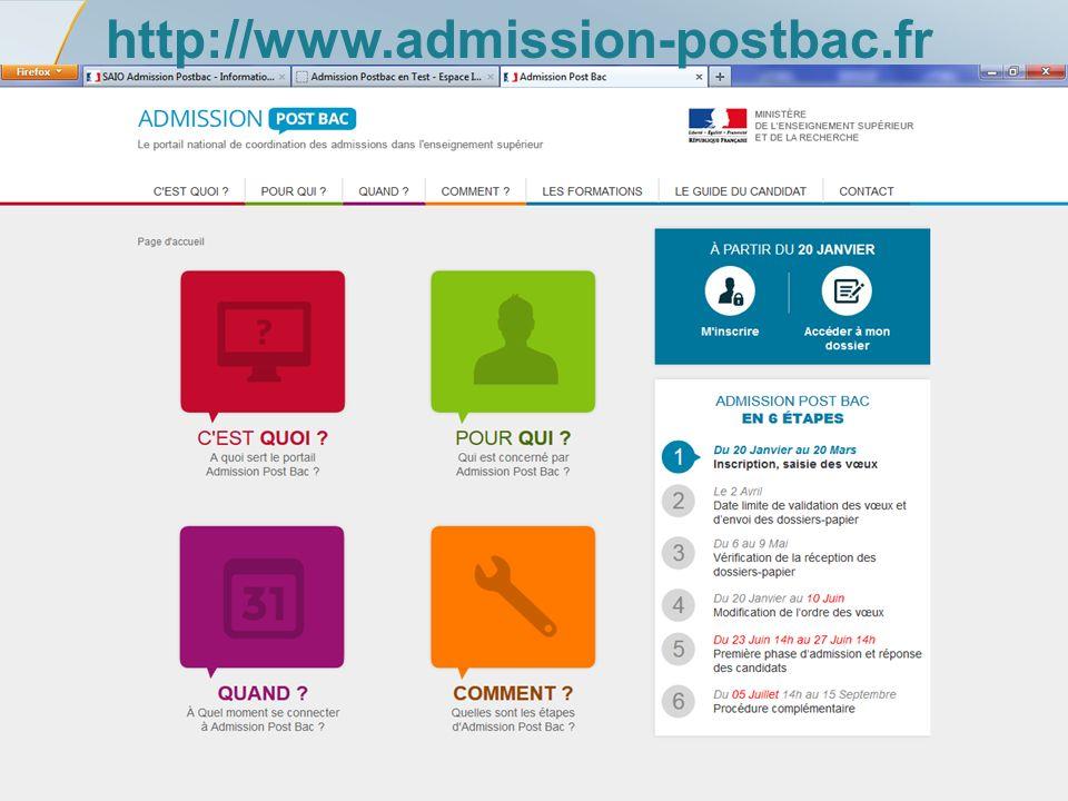 Rectorat de l'académie de Poitiers – SAIIO – APB 2014