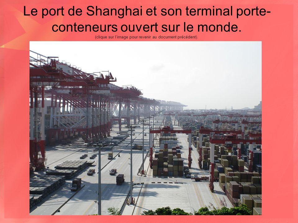 Le port de Shanghai et son terminal porte-conteneurs ouvert sur le monde.