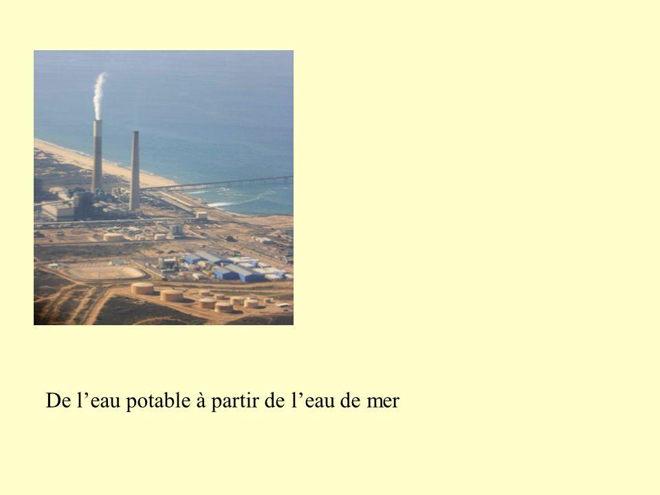 De l'eau potable à partir de l'eau de mer