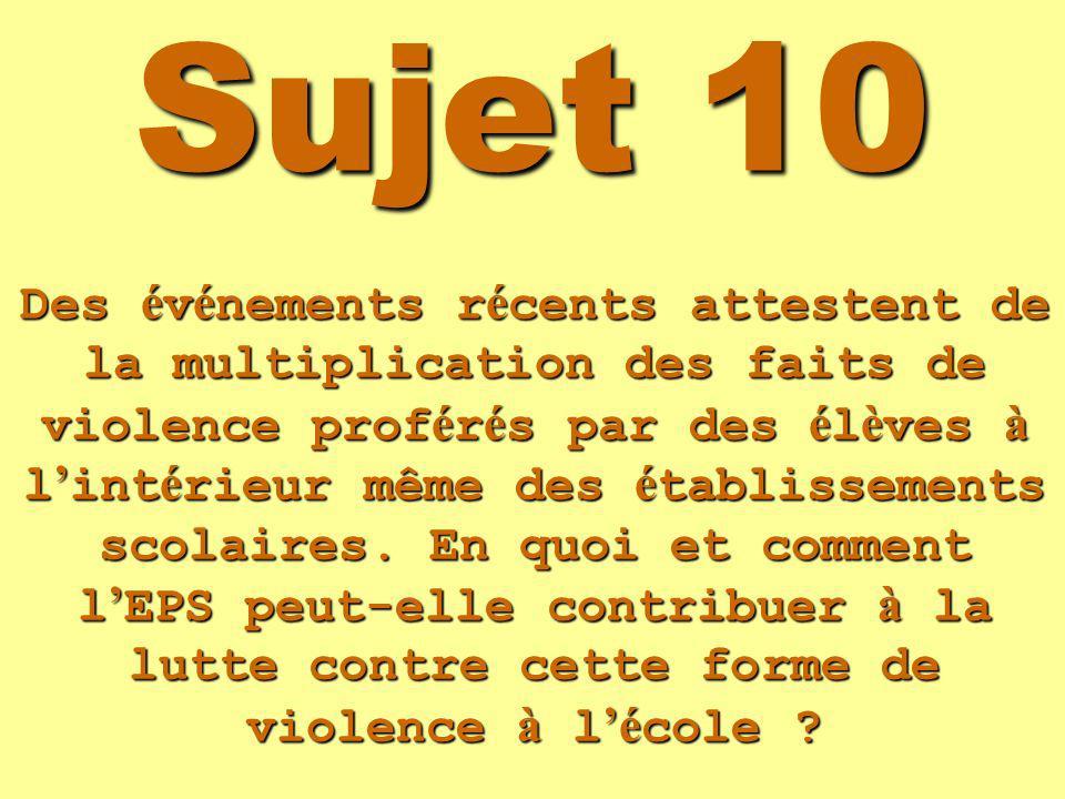 Sujet 10