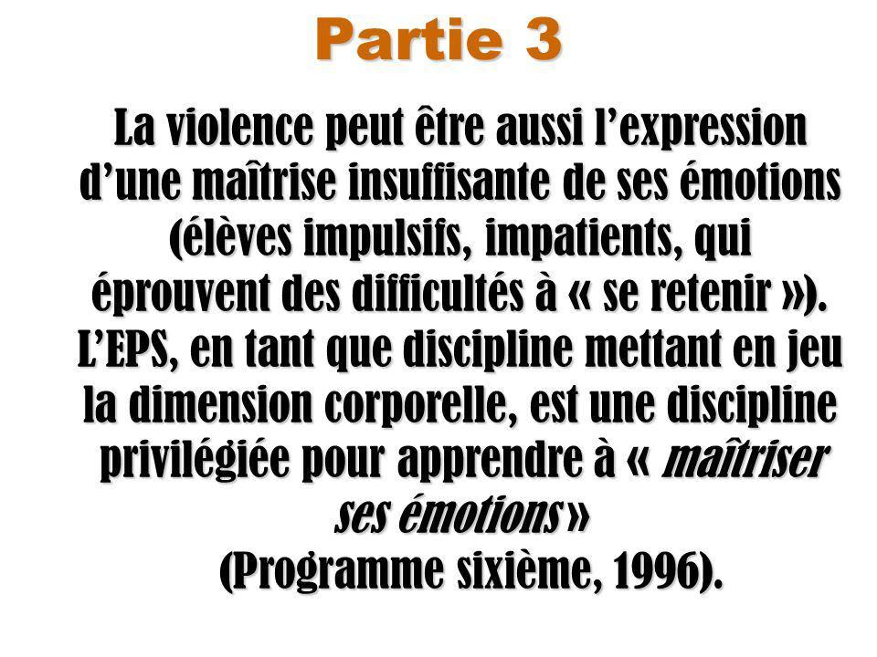 Partie 3 (Programme sixième, 1996).