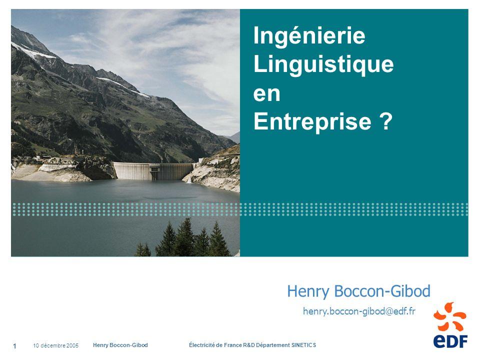 Ingénierie Linguistique en Entreprise