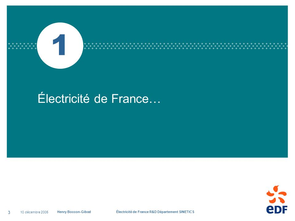 1 Électricité de France… 10 décembre 2005