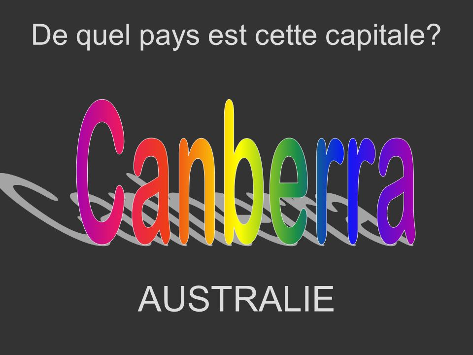 De quel pays est cette capitale