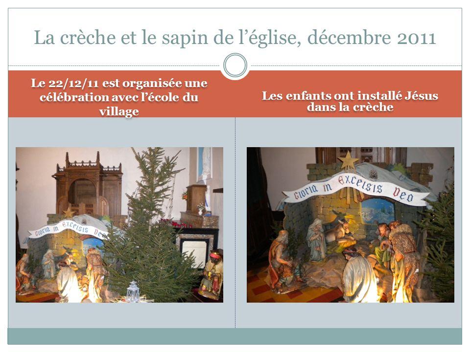 La crèche et le sapin de l'église, décembre 2011