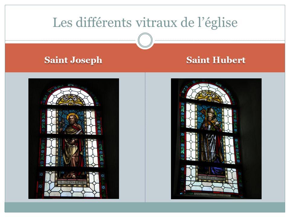 Les différents vitraux de l'église