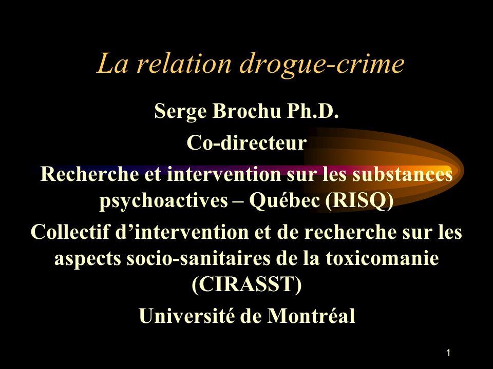 La relation drogue-crime