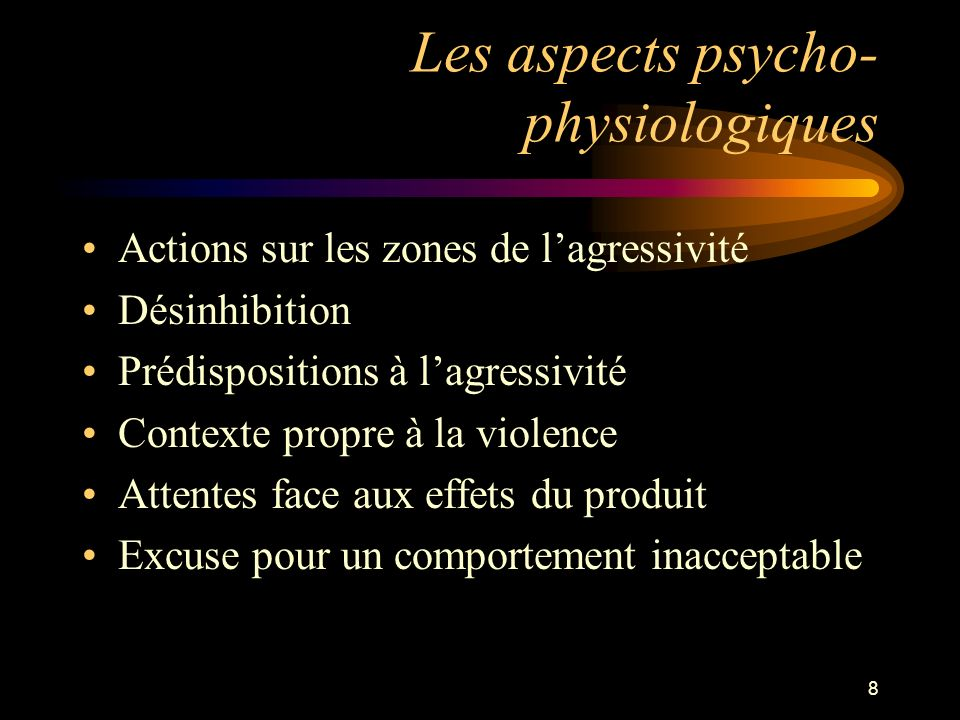 Les aspects psycho-physiologiques