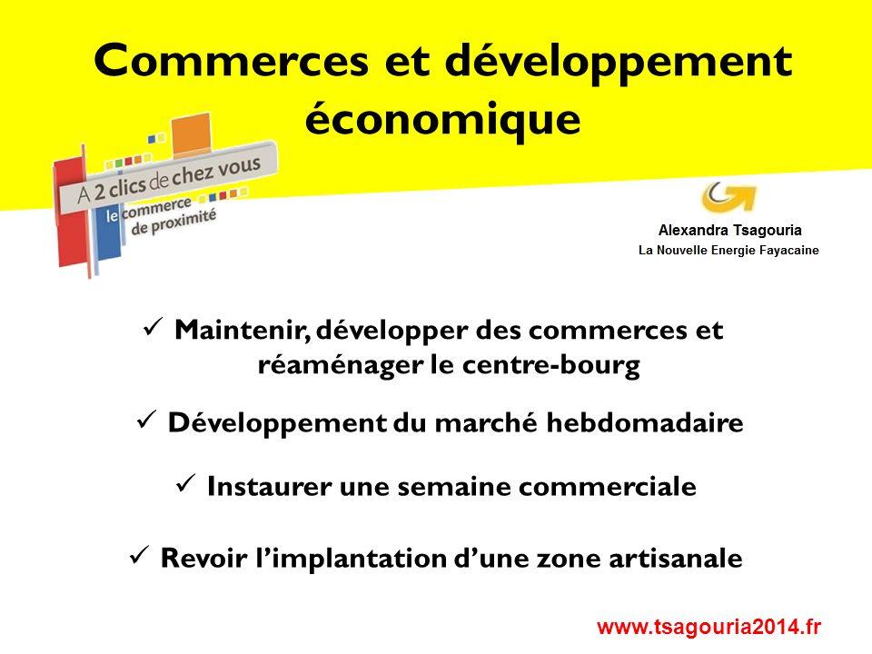 Commerces et développement économique