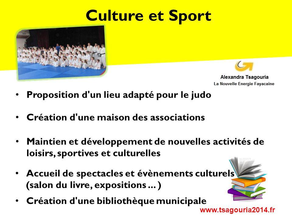 Culture et Sport Proposition d un lieu adapté pour le judo