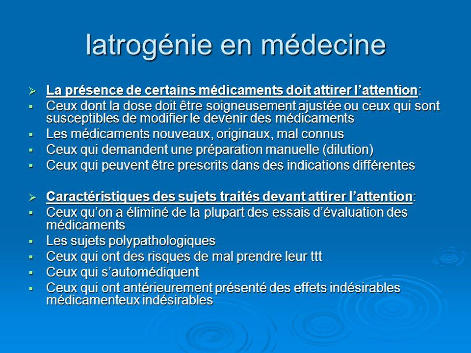 Iatrogénie en médecine