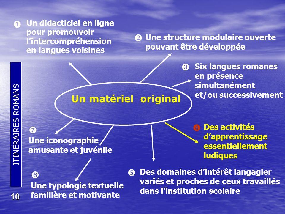    Un matériel original     Un didacticiel en ligne