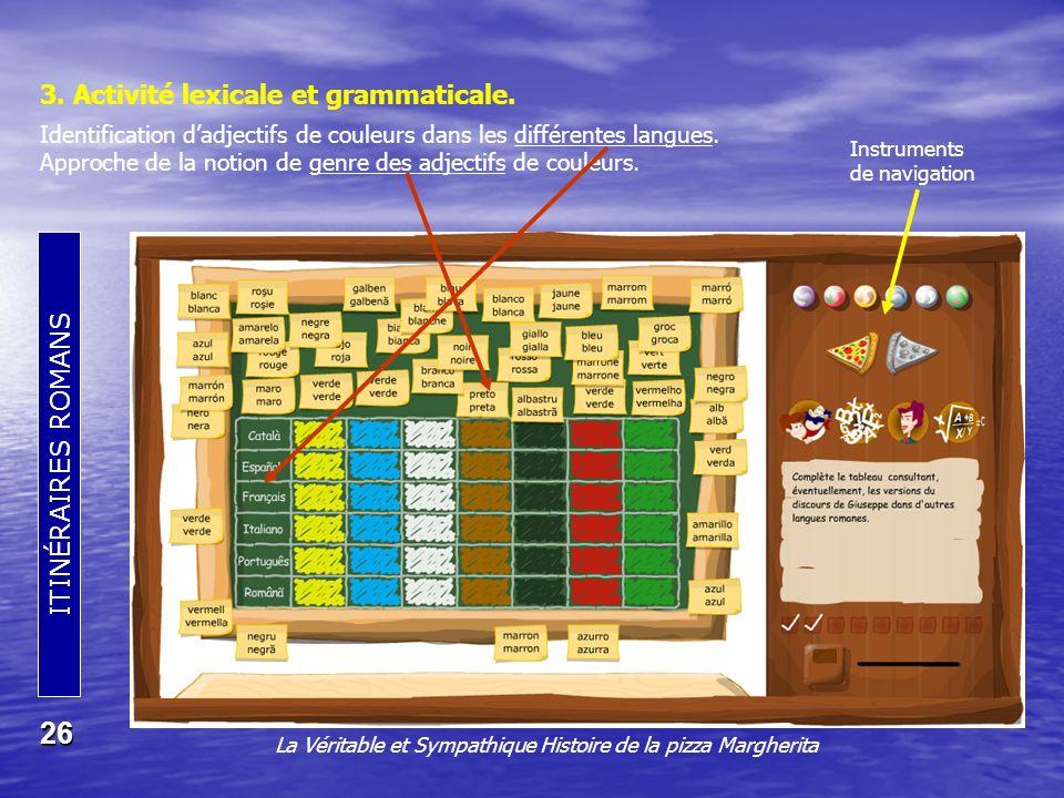 3. Activité lexicale et grammaticale.