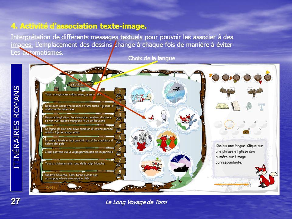 4. Activité d'association texte-image.
