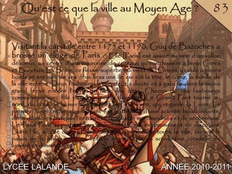 Qu'est ce que la ville au Moyen Age