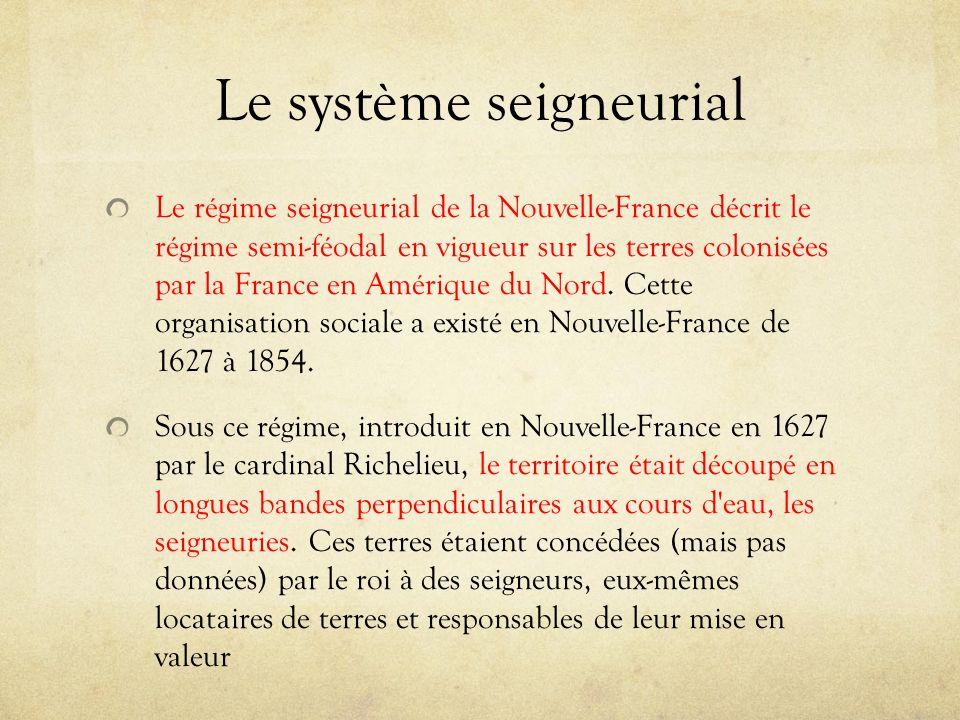 Le système seigneurial