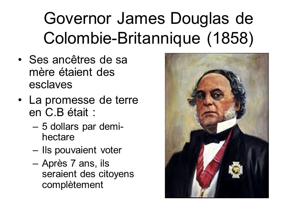 Governor James Douglas de Colombie-Britannique (1858)