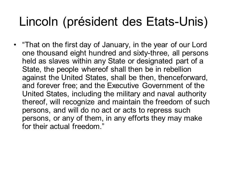 Lincoln (président des Etats-Unis)