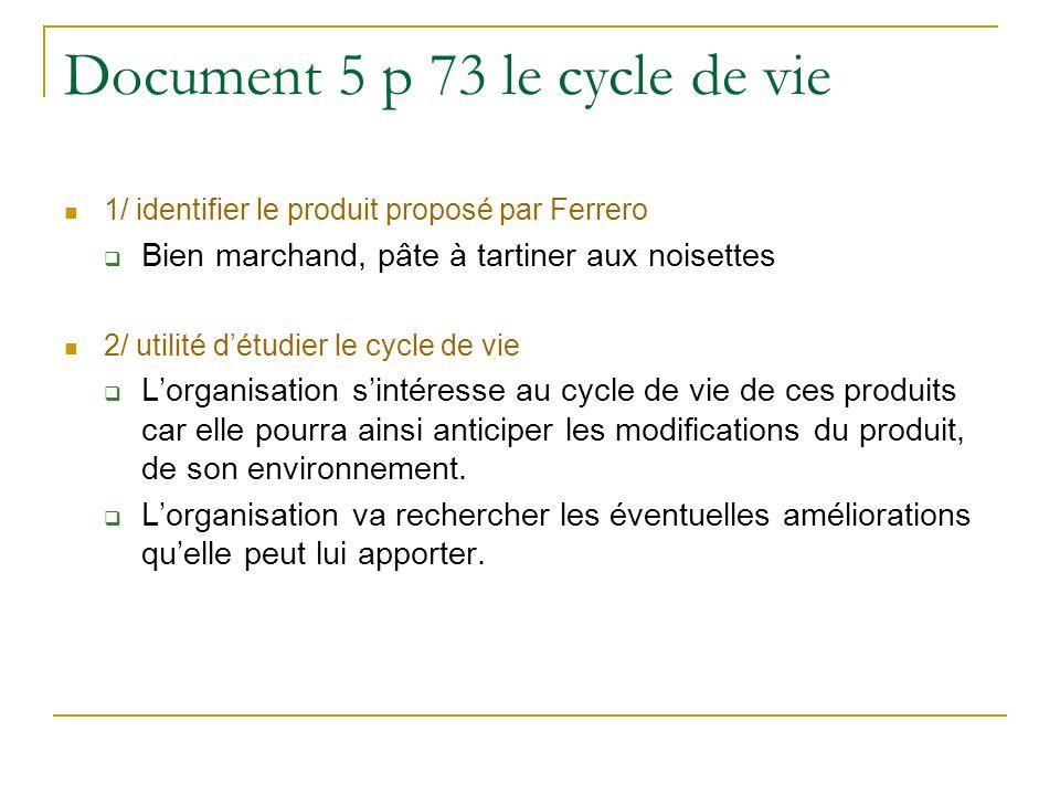Document 5 p 73 le cycle de vie