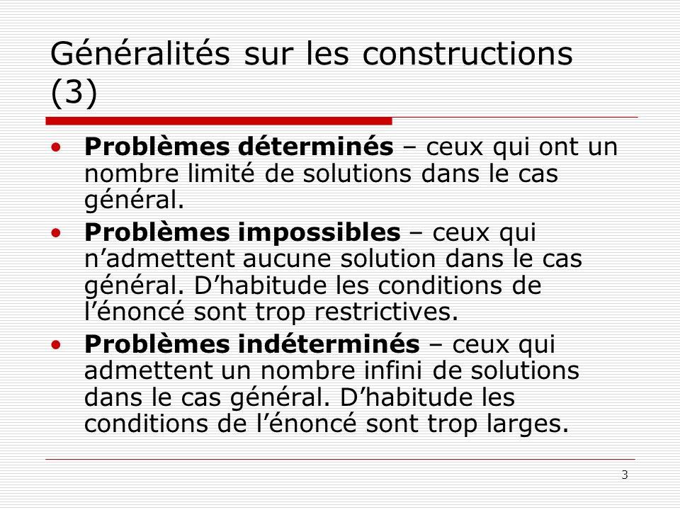 Généralités sur les constructions (3)
