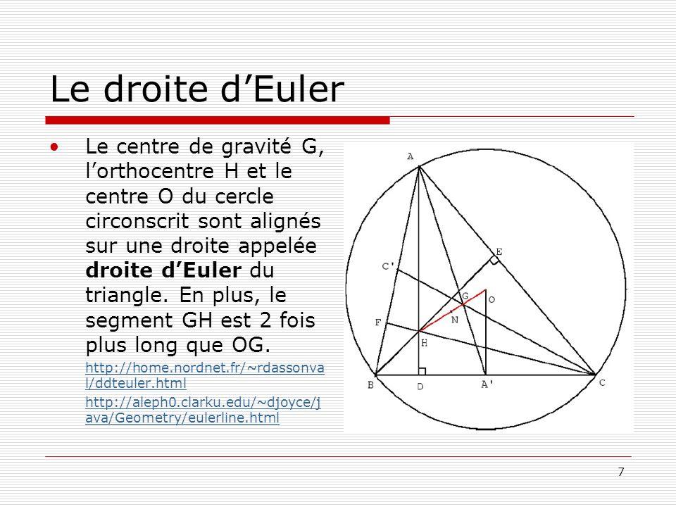 Le droite d'Euler