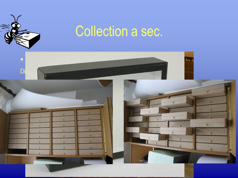 Collection a sec. Les boites de collections