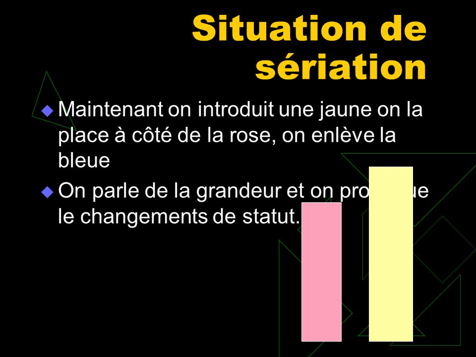Situation de sériation