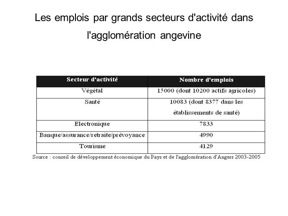 Les emplois par grands secteurs d activité dans l agglomération angevine