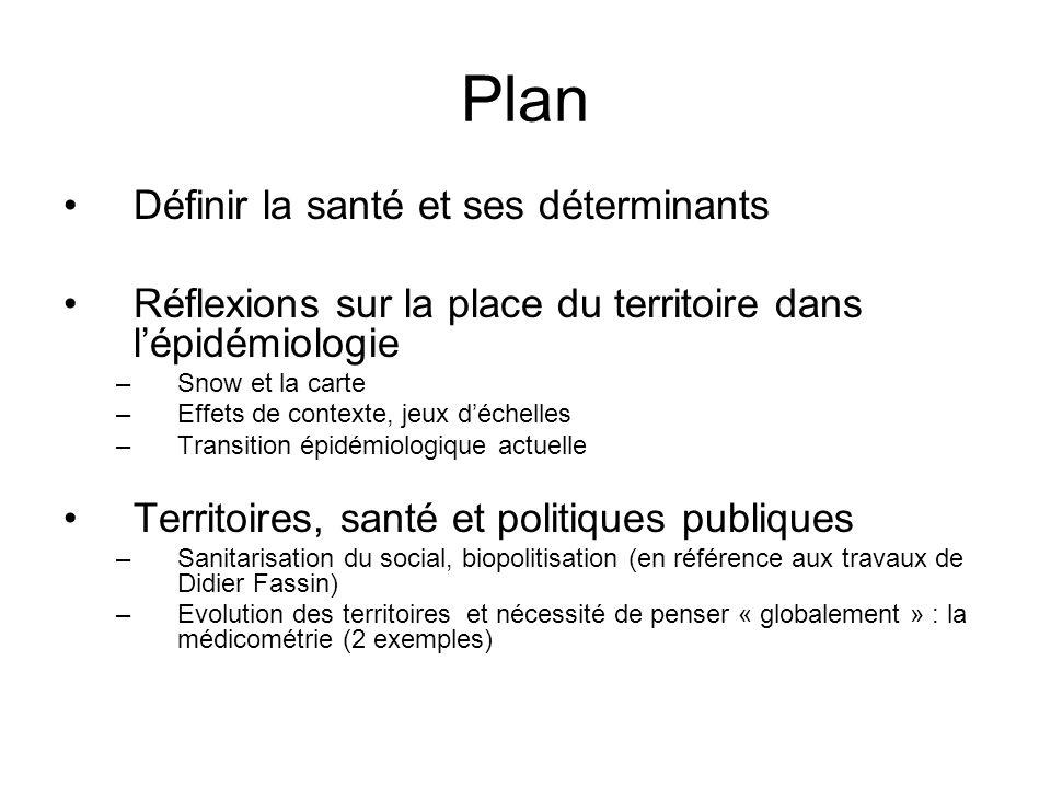 Plan Définir la santé et ses déterminants