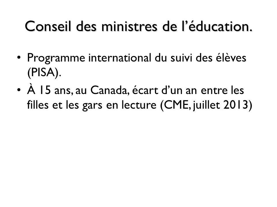Conseil des ministres de l'éducation.