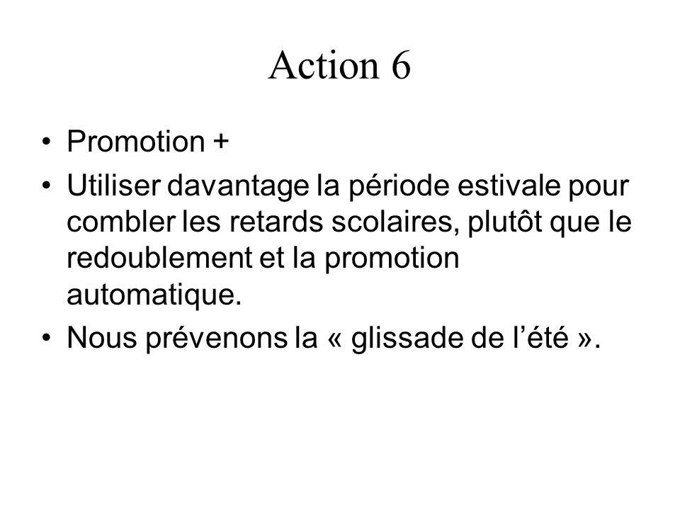 Action 6 Promotion +