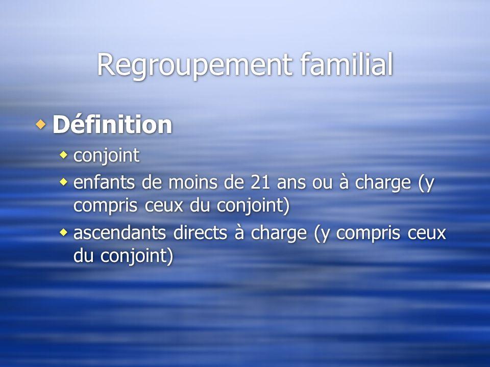 Regroupement familial