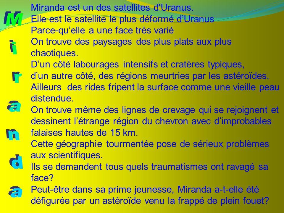 Miranda Miranda est un des satellites d'Uranus.