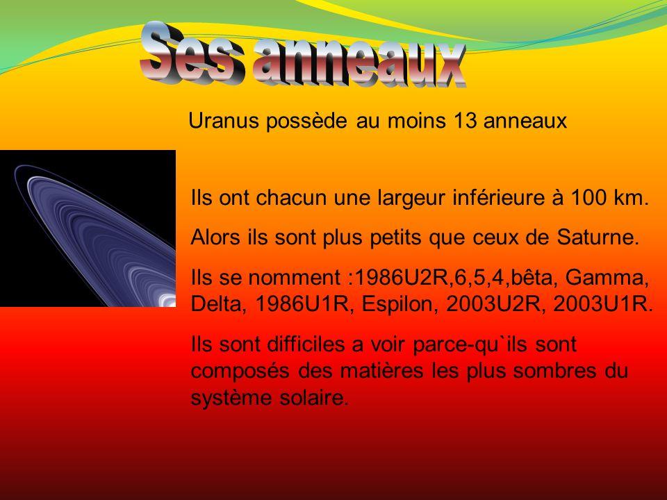 Ses anneaux Uranus possède au moins 13 anneaux