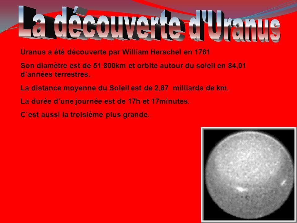 La découverte d Uranus Uranus a été découverte par William Herschel en 1781.