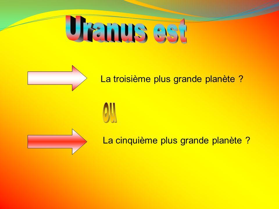 Uranus est ou La troisième plus grande planète