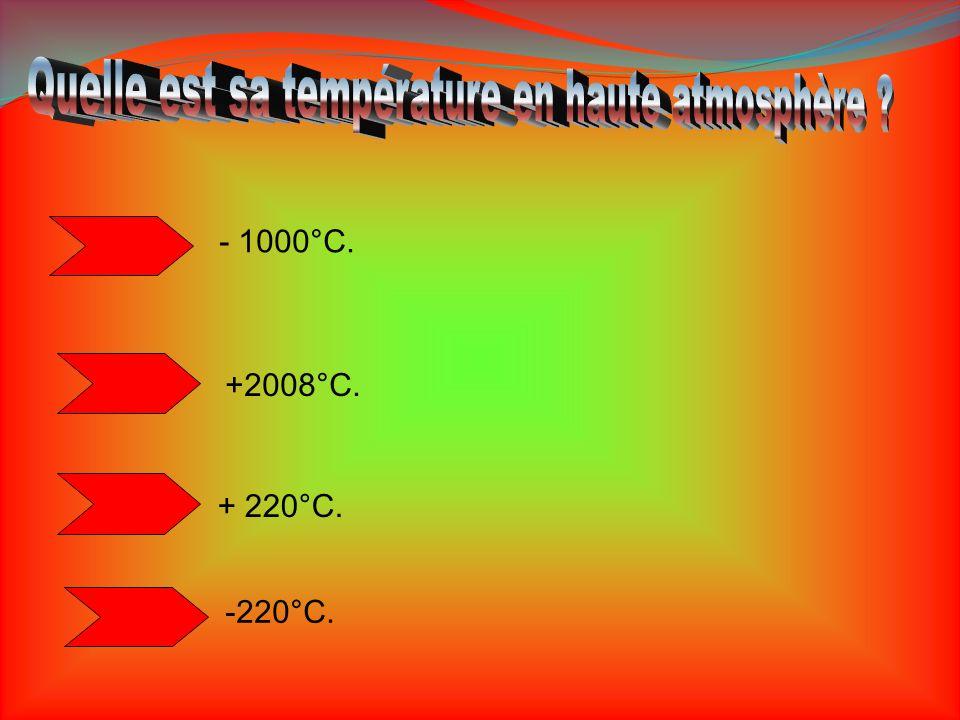 Quelle est sa température en haute atmosphère